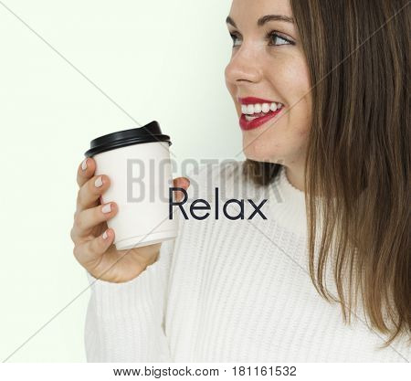 Coffee Culture Relax Take a Sip Word