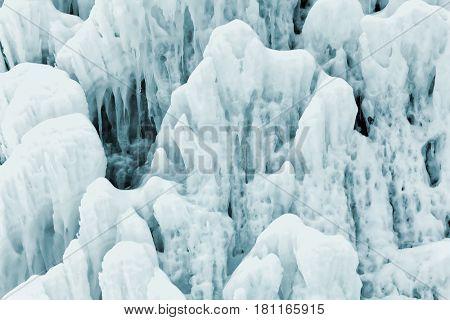 ice background - frozen water jet