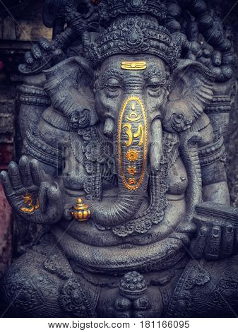 A statue of ganesha in bali, indonesia
