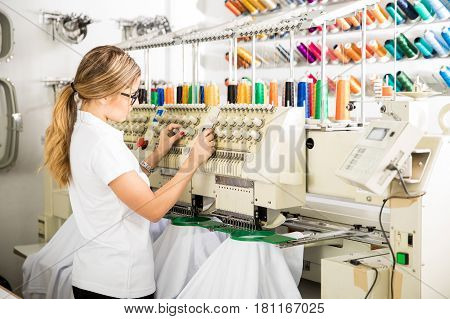 Preparing Embroidery Machine For Work