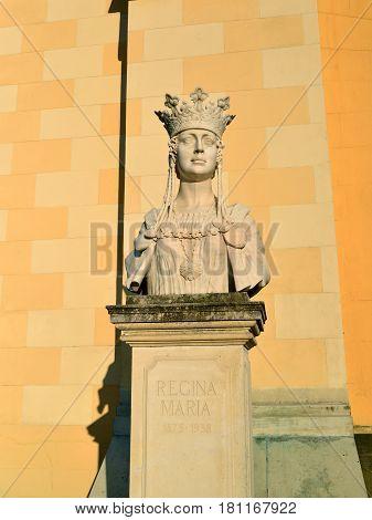 Alba Iulia city Romania queen Maria statue