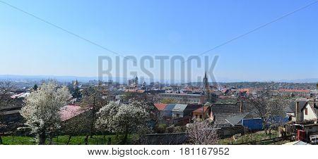 Turda town Romania panorama view landscape architecture