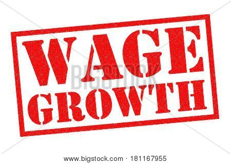WAGE GROWTH red Rubber Stamp over a white background.