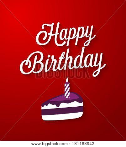 Happy Birthday creative greeting card. Vector illustration.