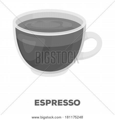 Espresso coffee.Different types of coffee single icon in monochrome style vector symbol stock illustration .