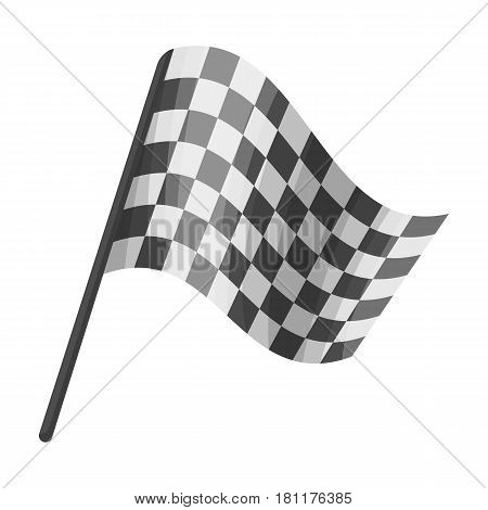 Flag in football referee.Fans single icon in monochrome  vector symbol stock illustration.