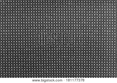 Grey nylon textile texture macro closeup gray horizontal pattern detail textured salt and pepper style black and white melange synthetic fabric detailed background