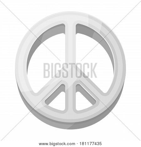 The icon of the world.Hippy single icon in monochrome style vector symbol stock illustration .