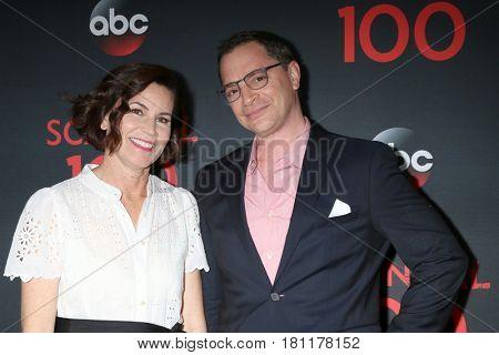 LOS ANGELES - APR 8:  Melissa Merwin, Joshua Malina at the