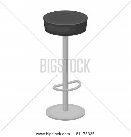 High chair seat near the bar. Bary chair to relax. Pub single icon in monochrome style vector symbol stock web illustration.