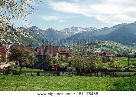 Village of Plav in Montenegro at the Albanian border in the middle of the Balkans mountain chains