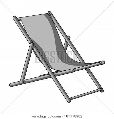 The seat for sunbathing on the beach.Summer rest single icon in monochrome style vector symbol stock web illustration.