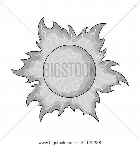 The sun is bright.Summer rest single icon in monochrome style vector symbol stock web illustration.