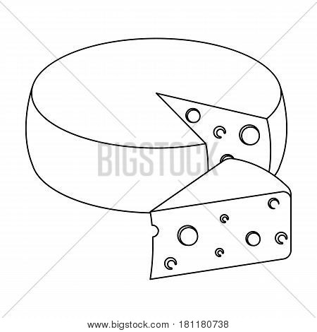 A real Belgian cheese.The dark Belgian wolf. Belgium single icon in outline style vector symbol stock web illustration.