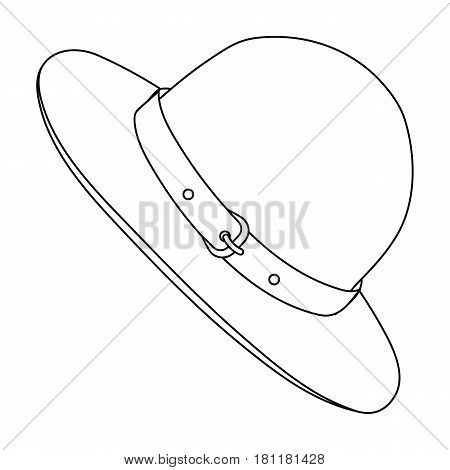 Green hat of a Canadian ranger. Canada single icon in outline style vector symbol stock illustration .