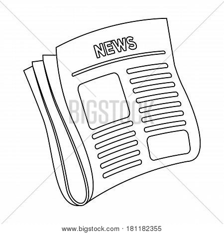 Newspaper, news.Paper, for the cover of a detective who is investigating the case.Detective single icon in outline style vector symbol stock web illustration.