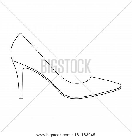 Black womens highheeled shoes exit in a dress.Different shoes single icon in outline style vector symbol stock web illustration.