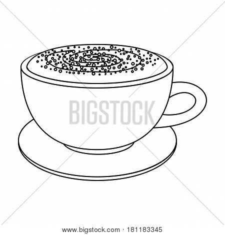 Cup of cappuccino.Different types of coffee single icon in outline style vector symbol stock illustration .