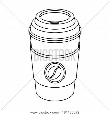 A cup of coffee to takeaway.Different types of coffee single icon in outline style vector symbol stock illustration .