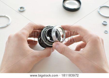 Repair Manual Camera Lens.