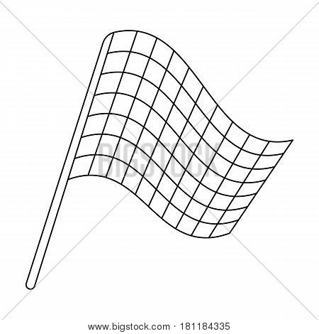 Flag in football referee.Fans single icon in outline  vector symbol stock illustration.