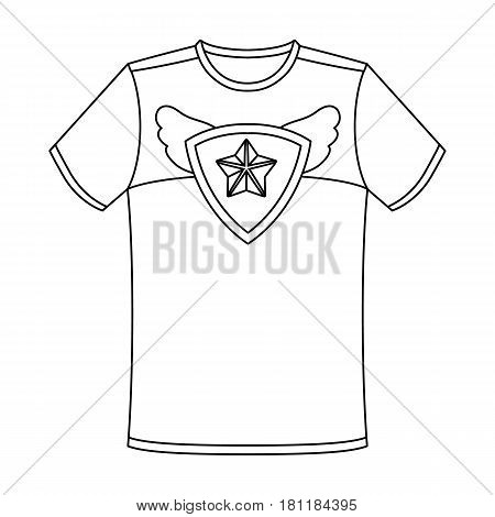 T-shirt fan with print.Fans single icon in outline  vector symbol stock illustration.