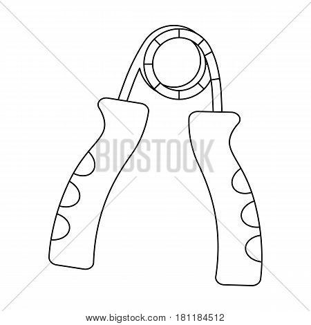 Simulator for hand on a spring mechanism.Gym And Workout single icon in outline style vector symbol stock web illustration.