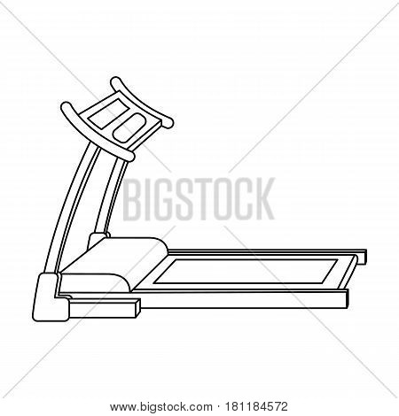 Treadmill. Running simulator for training in the gym.Gym And Workout single icon in outline style vector symbol stock web illustration.