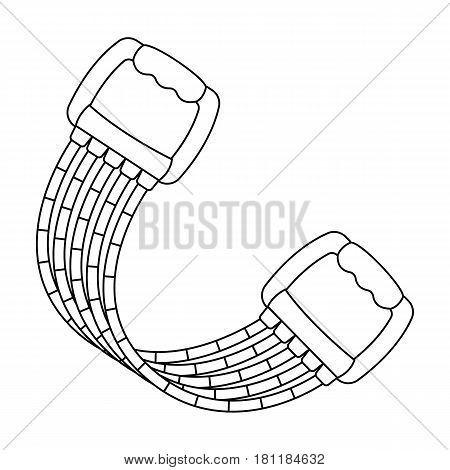 Simulator for hands on a spring mechanism.Gym And Workout single icon in outline style vector symbol stock web illustration.