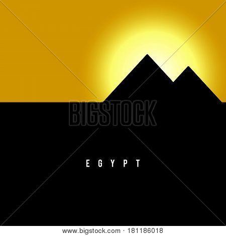 Pyramid Egypt Famous Ancient History Illustration