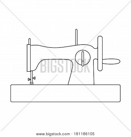 Machine for fast sewing.Sewing or tailoring tools kit single icon in outline style vector symbol stock web illustration.