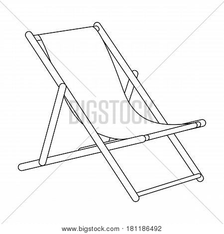The seat for sunbathing on the beach.Summer rest single icon in outline style vector symbol stock web illustration.
