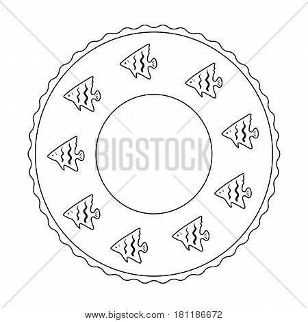 Rescue swimming circle.Summer rest single icon in outline style vector symbol stock web illustration.