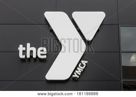 Kokomo - Circa April 2017: Downtown YMCA. The YMCA works to bring social justice to young people and their communities IV