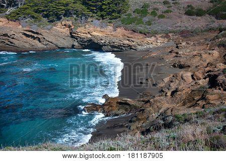 A cove on the Central California Coast.