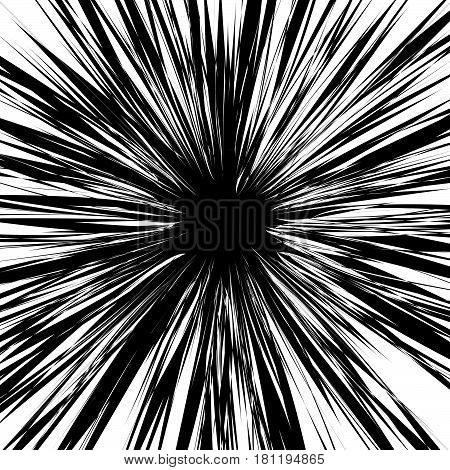 Rough, Edgy Texture Of Random Distorted Shapes). Black And White Abstract Geometric Texture / Patter