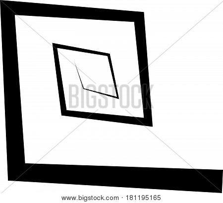 Geometric Square Spiral. Abstract Spiral Element In Angular Style