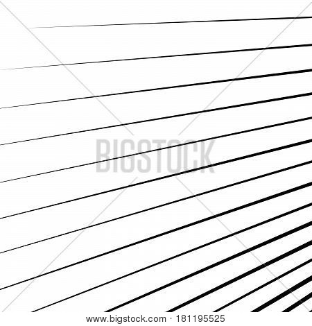 Dynamic Lines Pattern. Comic Lines Spreading From Corner. Starburst, Sunburst, Radial Lines Backgrou