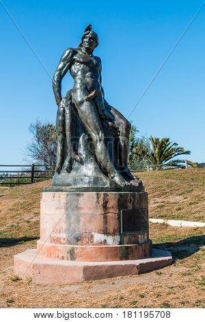 SAN DIEGO, CALIFORNIA - APRIL 1, 2017:  Bronze statue