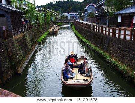 Sawara Chiba, Japan, October 21, 2016 : Sawara in Katori city, Chiba prefecture, is an old town lies in a natural waterway district known for its cherished old townscape.