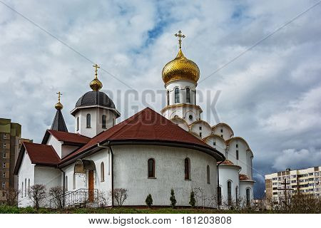 Belarus Minsk - 08.04.2017: The Church of St. Michael the Archangel