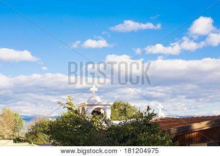 White Christian Church of Agia Napa in Cyprus.