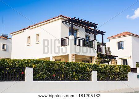 Luxury Villa Resort Interior. Modern villa outdoor