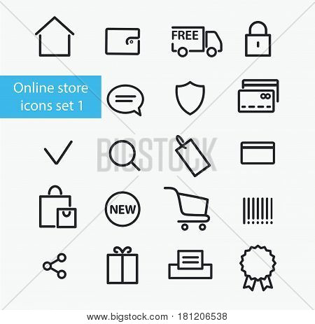 Vector online store icons set number one