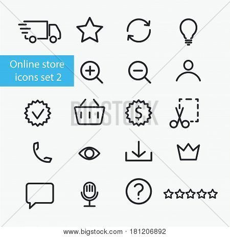 Vector online store icons set  number two