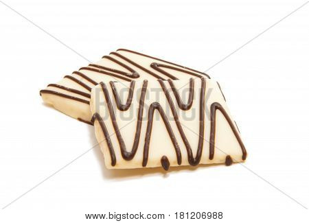 Cookies chocolate biscuit isolated on white background