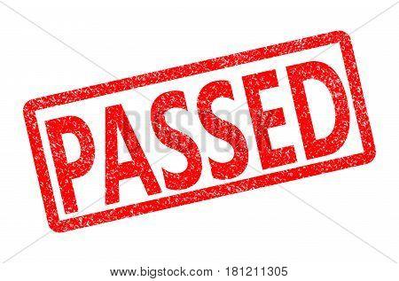 passed rubber stamp. passed rubber stamp on white background. passed stamp.