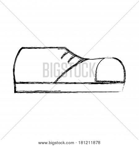 contour fashin man shoes style, vector illustration design