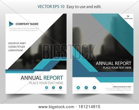 Blue abstract line annual report Brochure design template vector. Business Flyers infographic magazine poster.Abstract layout template Book Cover presentation portfolio.