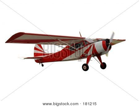Red Airplane, Isolated